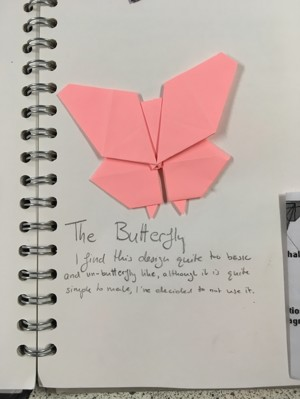 Mirain brown origami butterflies 6