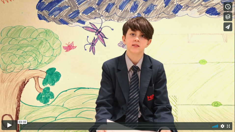 Haverstock School Young Writers Project, Words Awry Stories Told: Still image from video of TRAPPED! The Move