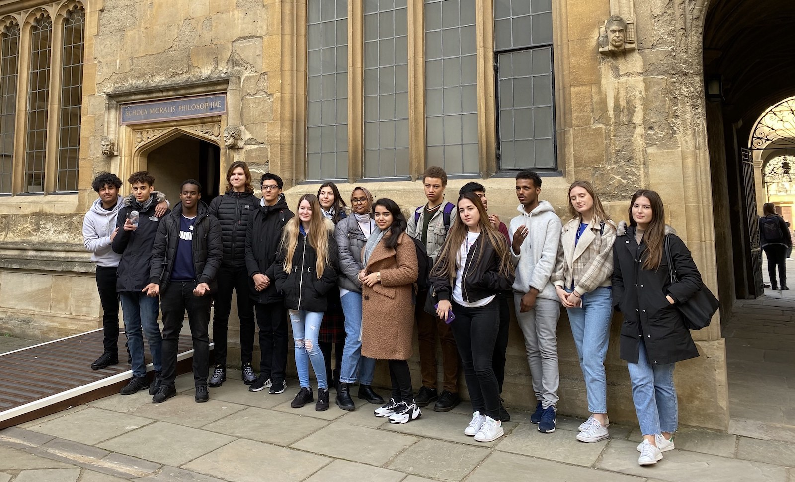 Haverstock sixth form students visit hertford college oxford university