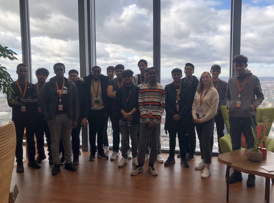 Haverstock Sixth Form Students On A Visit To Salesforce Computer Company