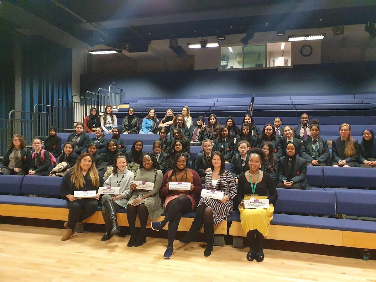 Haverstock School Camden London, visitors for International womens day