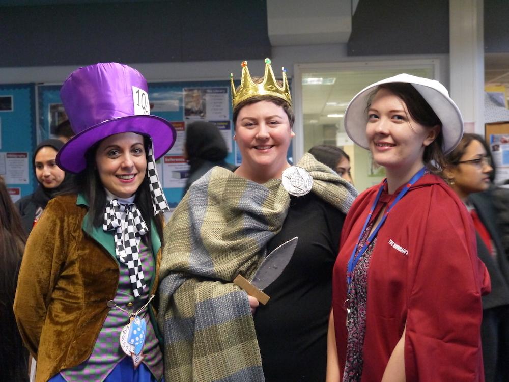 Haverstock school camden celebrates world book day staff in costume
