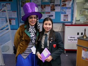 Haverstock school camden celebrates world book day librarian and student