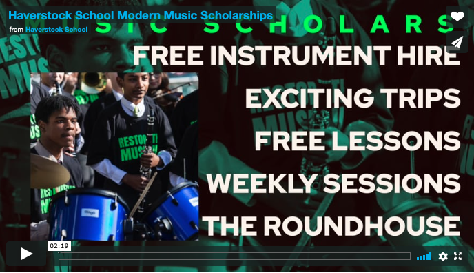 Haverstock School Modern Music Scholarships, A Student's Perspective