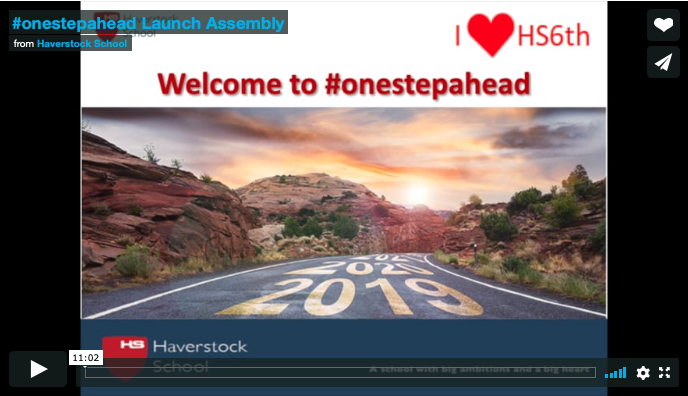 Welcome #onestepahead