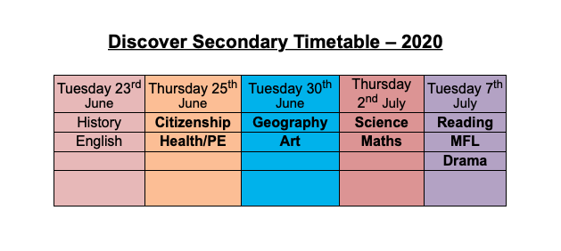 Haverstock School Discover Secondary, A taster programme of activities for Year 4 and Year 5 pupils.