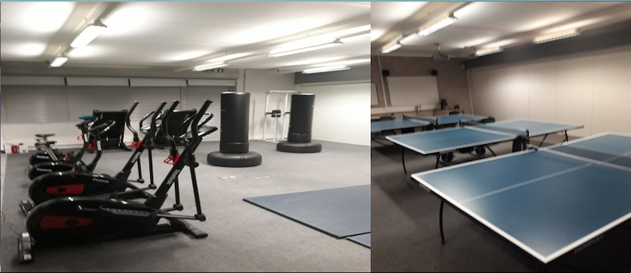 Gym and recreation facilities at the Camden Reintegration Base (CRiB)
